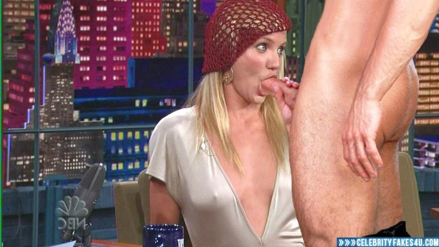 Cameron Diaz Fake, Blowjob, Nipple Pokies, Series, Sex, The Tonight Show with Jay Leno, Tits, Porn