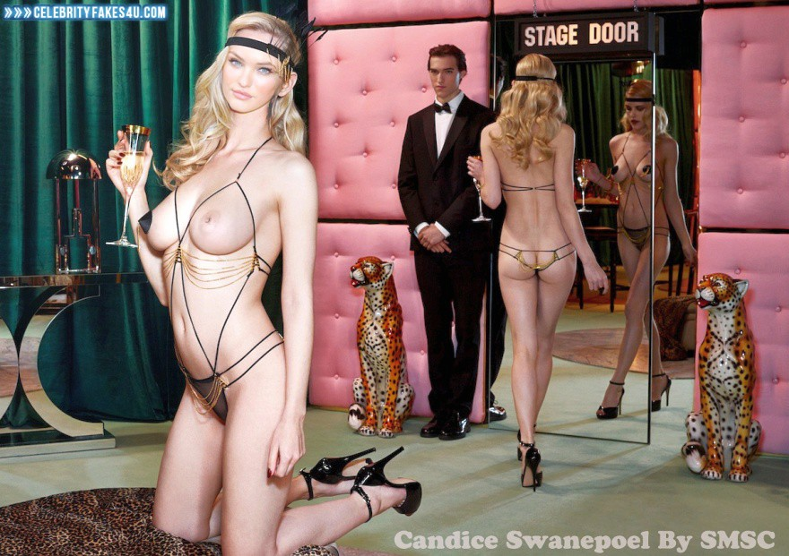 Candice Swanepoel Fake, Ass, Blonde, Heels, Nude, Public, Tits, Porn