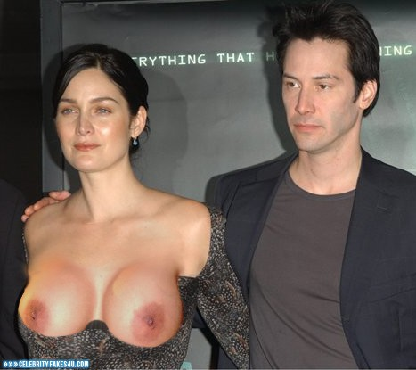 Carrie Anne Moss Breasts