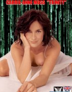 Carrie Anne Moss Tits The Matrix Nsfw 001