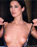 Carrie Anne Moss Undressing Breasts 001