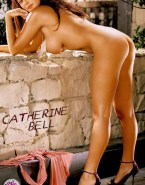Catherine Bell Ass Sideboob Nude 001