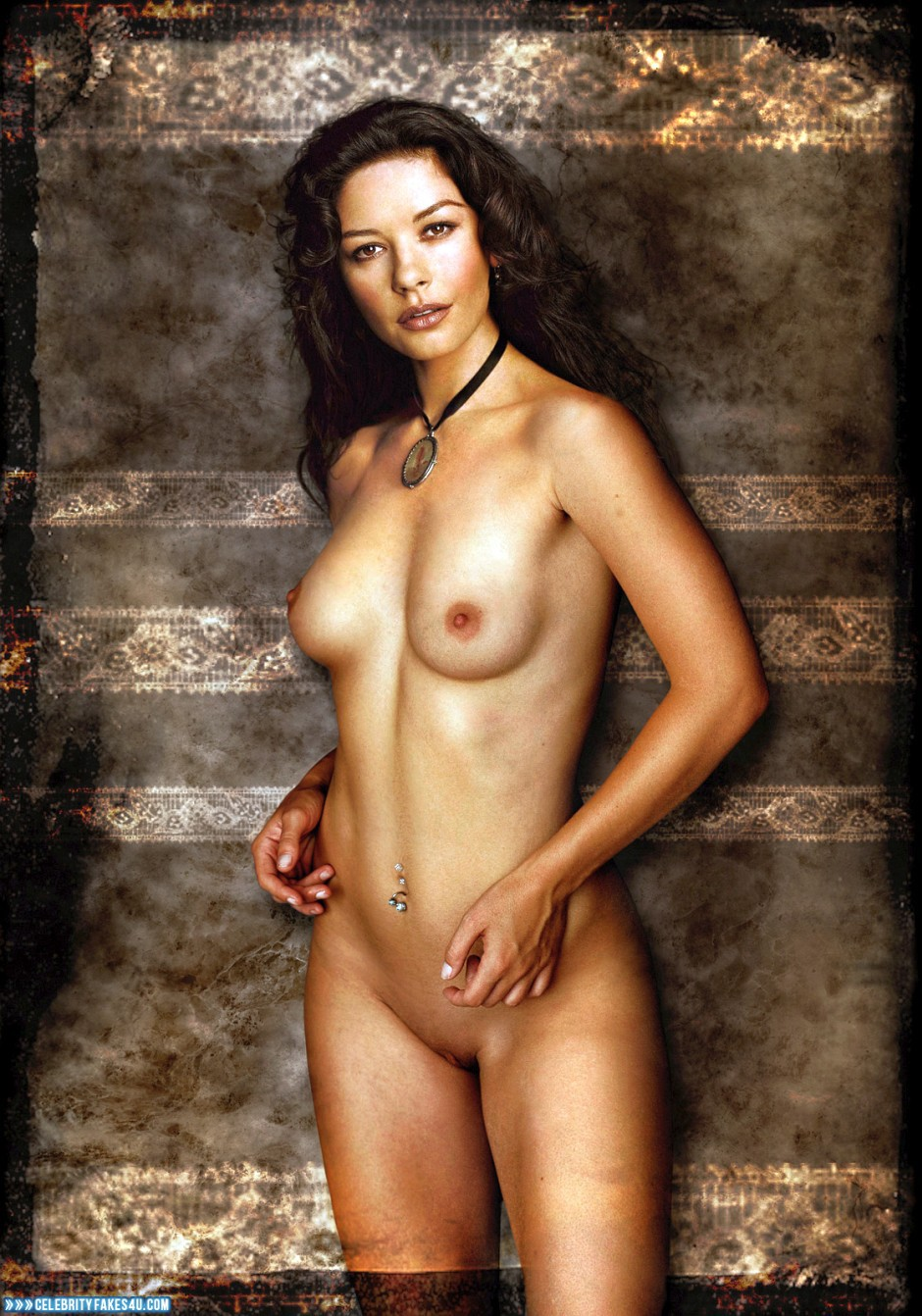 Whom Catherine zeta jones fake nude pity, that