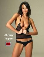Chrissy Teigen G String Nipples Naked 001