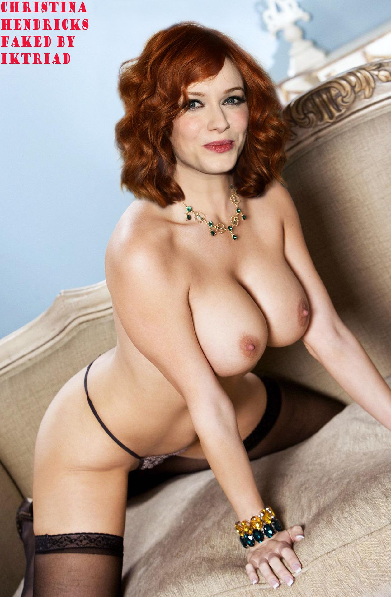 Christina hendricks topless