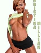 Christina Milian Horny Flashing Tits Naked Fake 001