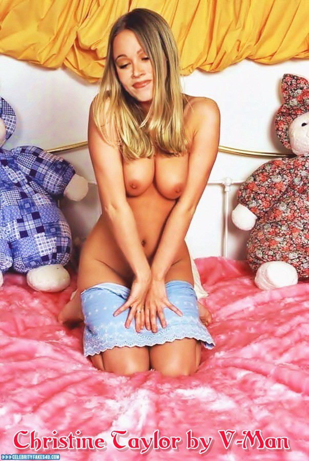 Christine Taylor Fake, Horny, Nude, Tits, Very Nice Tits, Porn