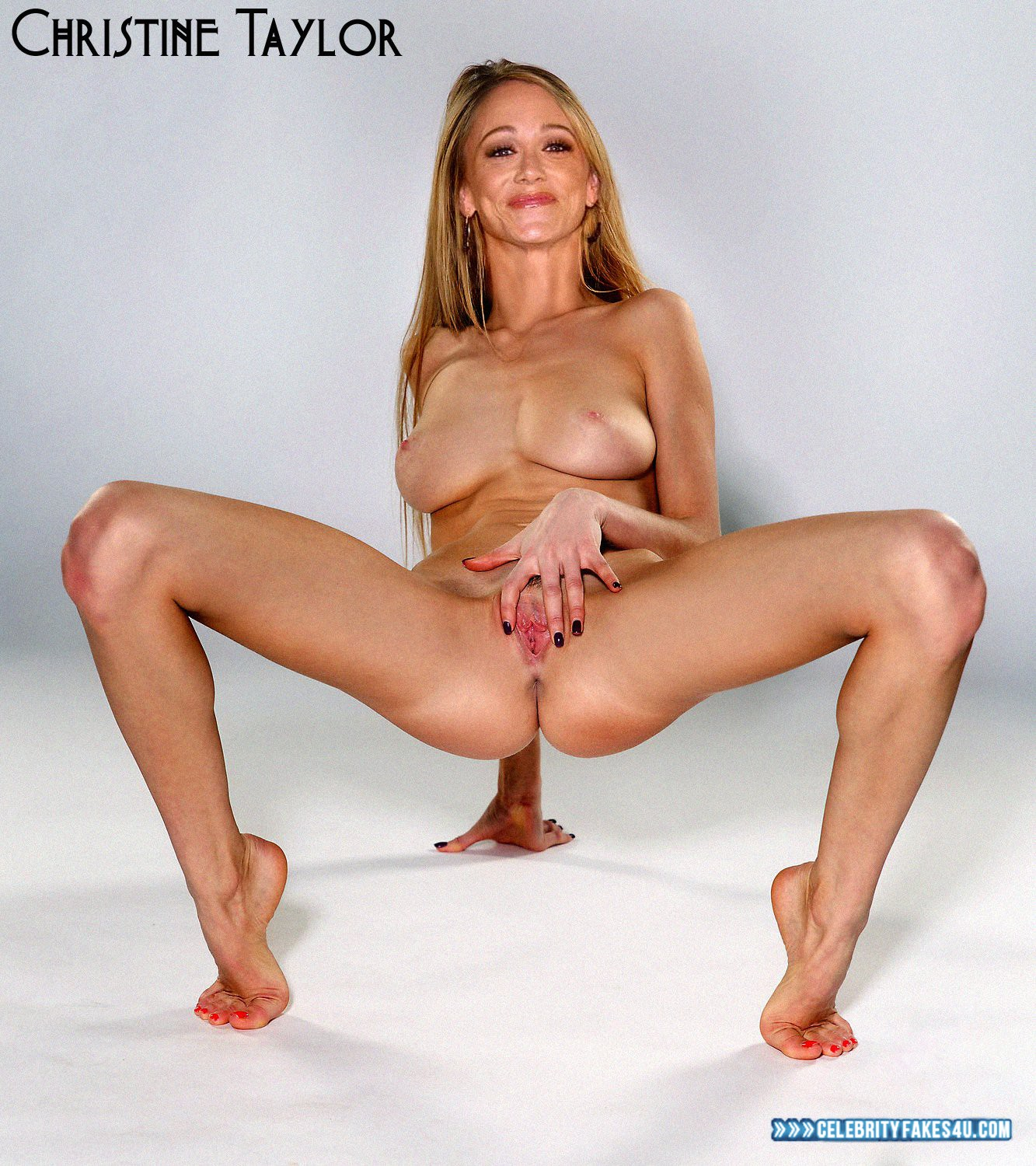 Christine Taylor Fake, Legs, Nude, Pussy, Pussy Spread, Tight Pussy, Tits, Porn