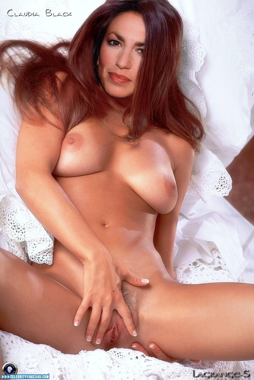 Claudia Black Tits Spread Pussy Porn Fake 001  Celebrity -8125