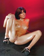 Claudia Winkleman Tits Legs Spread Naked Fake 001