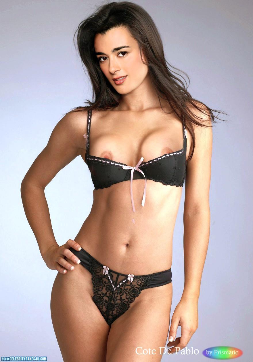 Cote De Pablo Fake, Big Tits, Horny, Lingerie, Nip Slip, Tits, Porn