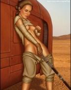 Daisy Ridley Pinching Nipples Sex Toy Naked Fake 001