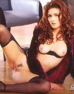 Debra Messing Breasts Legs Spread Nude 001