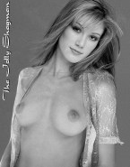 Delta Goodrem Tits Topless Naked Fake 001