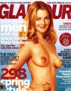 Drew Barrymore Tits Magazine Cover 001