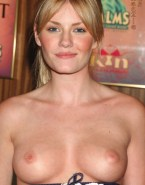 Elisha Cuthbert Exposed Boobs Red Carpet Event Naked 001