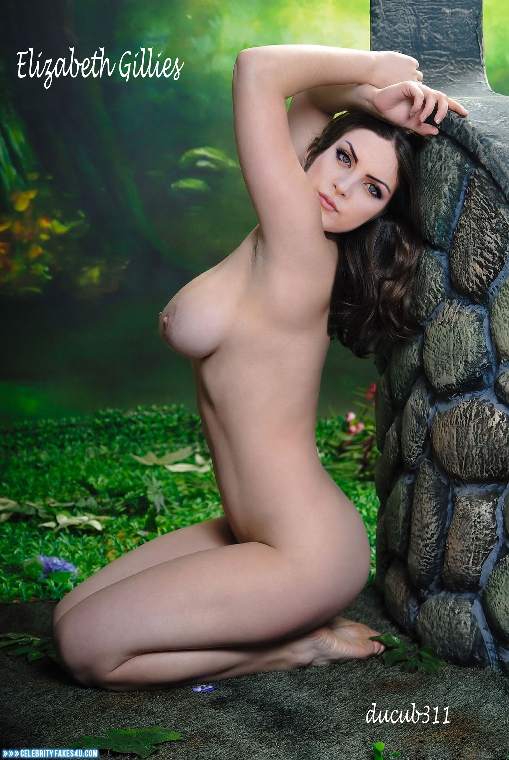elizabeth gillies naked