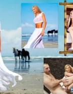 Elizabeth Mitchell Beach See Thru Nude Sex Fake 001