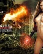Elizabeth Olsen Movie Cover Naked Body Fake 001