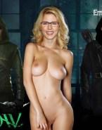 Emily Bett Rickards Arrow Tv Series Nude Body Fake 001
