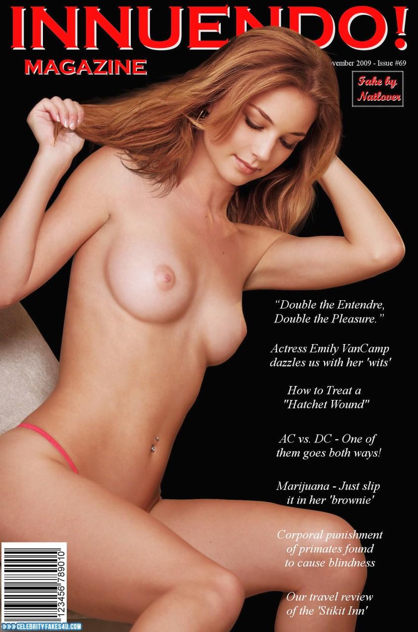 Emily Vancamp Fake, Magazine Cover, Nude, Tits, Porn