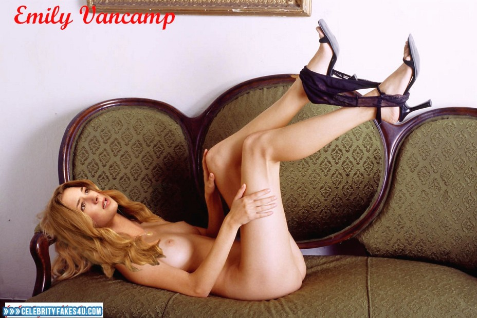 Emily Vancamp Fake, Heels, Panties Pulled Down, Sexy Legs, Tits, Undressing, Porn