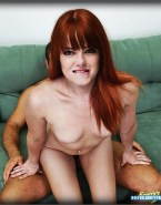 Emma Stone Red Haired Reverse Cowgirl Sex Fake 001