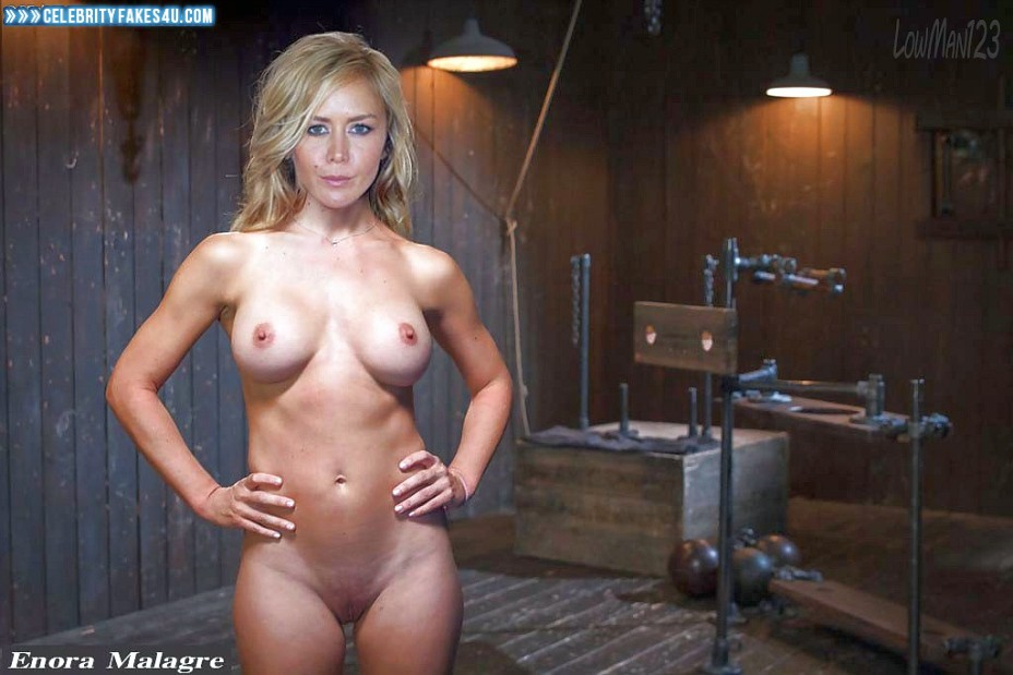 Enora Malagre Fake, BDSM, Completely Naked Body / Fully Nude, Tits, Porn