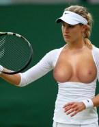 Eugenie Bouchard Tit Flash Public Naked Fake 001