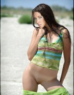 Evangeline Lilly Pantieless Beach Nudes 001