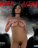 Famke Janssen Squeezing Tits Movie Cover Fake 001