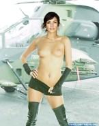 Famke Janssen Topless Outdoors Nsfw Fake 001