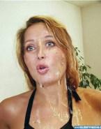 Gillian Anderson Big Cumshot Cum Facial 001