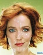 Gillian Anderson Facial Cumshot 003