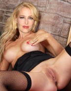 Gillian Anderson Nipples Pinched Legs Spread Pussy Nsfw 001