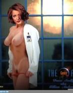Gillian Anderson Panties Off Big Boobs Porn 001