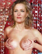 Gillian Anderson Squeezing Tits 002