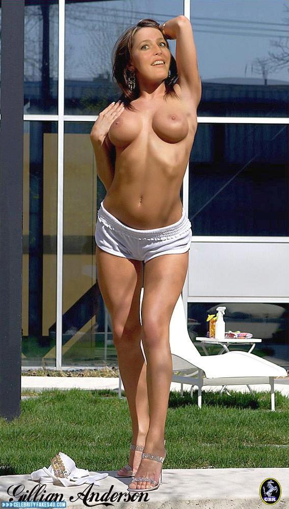 Gillian Anderson Fake, Topless, Porn