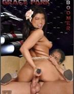 Grace Park Sideboob Dildo In Her Ass Sex 001