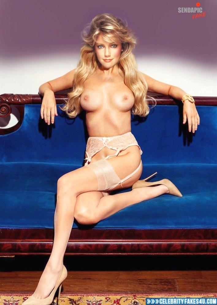 Heather Locklear Fake, Heels, Nude, Stockings, Tits, Porn