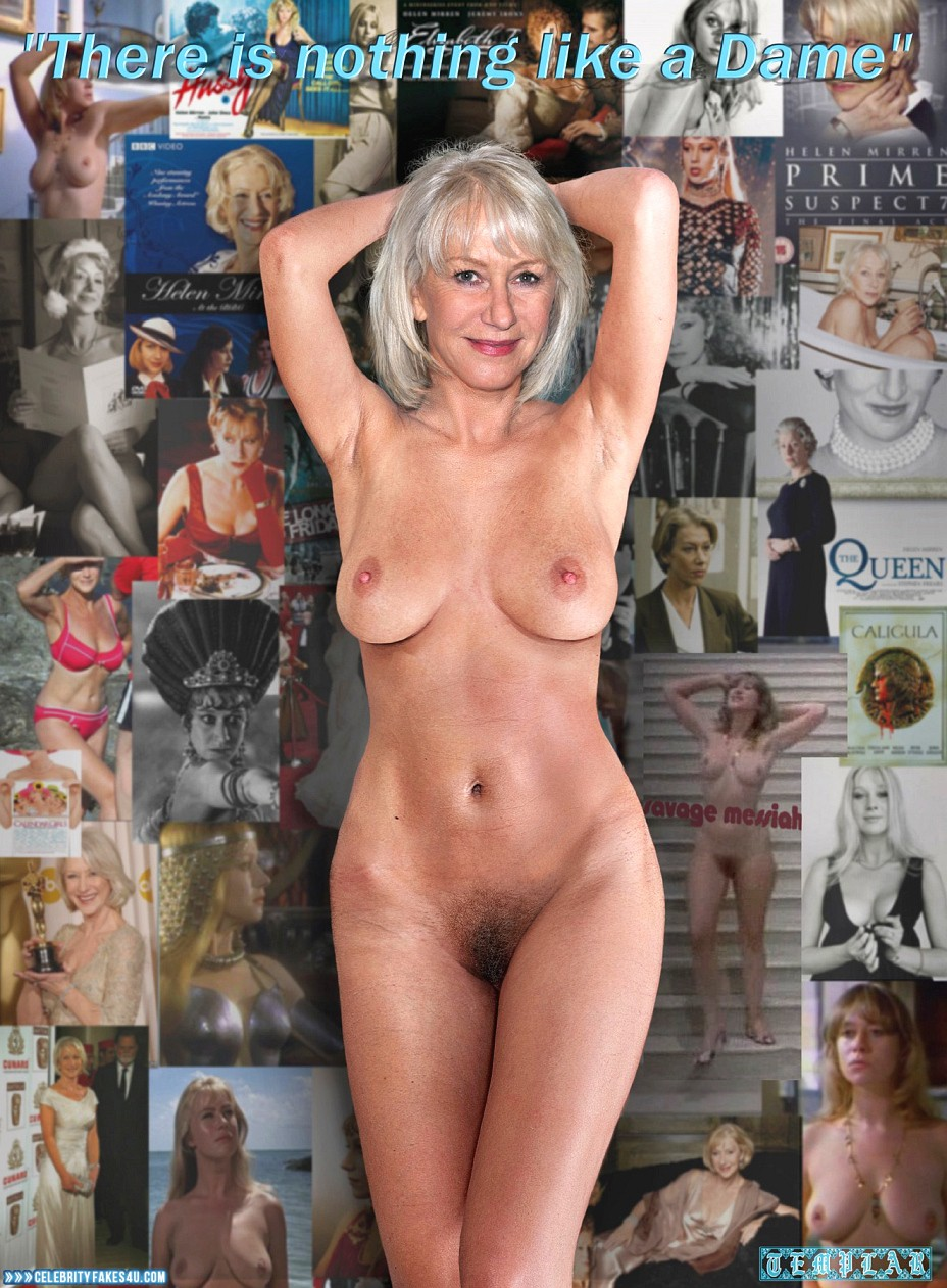 Helen Mirren Fake, Completely Naked Body / Fully Nude, Sexy Flat Stomach, Sexy Legs, Tits, Porn