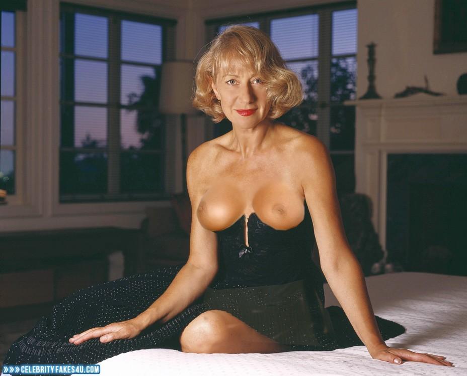Helen Mirren Fake, Blonde, Lipstick, Nude, Topless, Porn