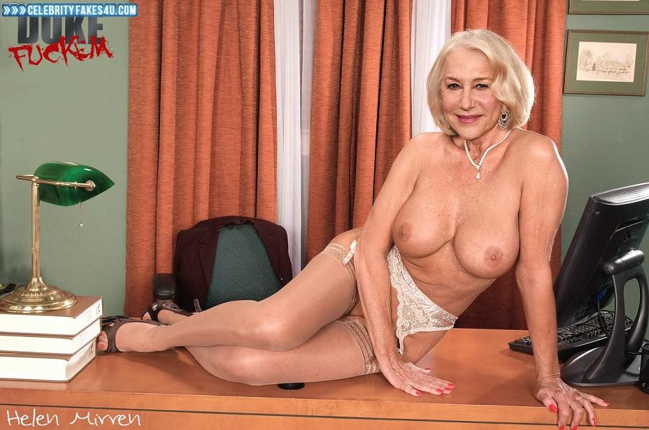 Helen Mirren Fake, Stockings, Very Nice Tits, Porn
