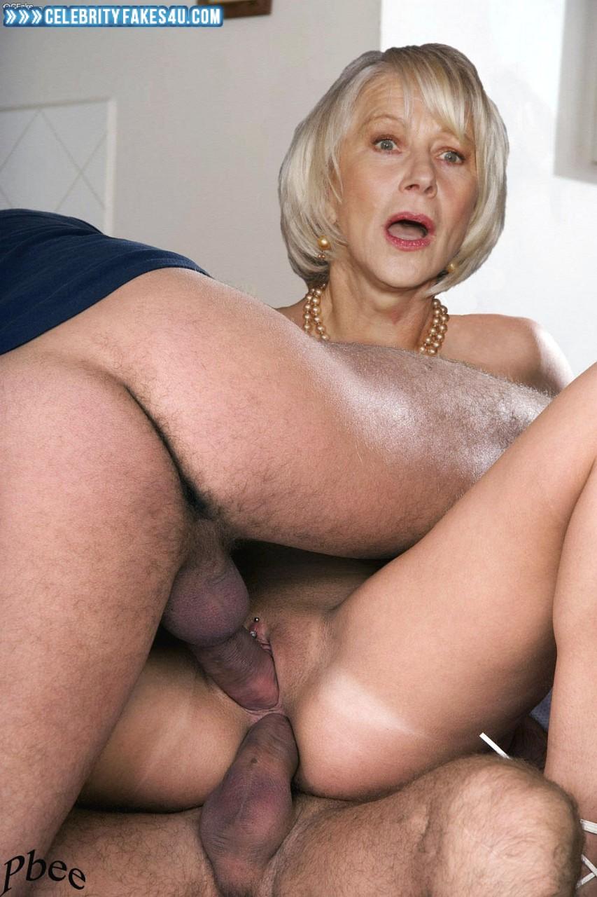 Helen Mirren Fake, Double-Penetration Sex, Pierced Pussy, Porn