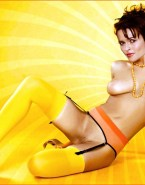 Helena Bonham Carter Stockings Breasts Fake 001