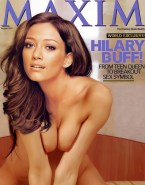 Hilary Duff Boobs Squeezed Magazine Cover Porn 001