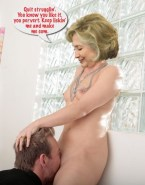 Hillary Clinton Small Boobs Gets Her Pussy Ate Nude 001