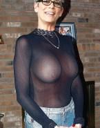 Jamie Lee Curtis See Thru Nipples Pierced Naked 001