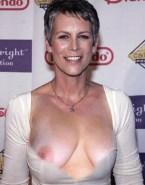 Jamie Lee Curtis Wardrobe Malfunction Red Carpet Event Nudes 001