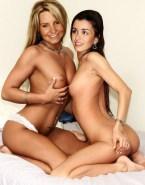 Jenifer Bartoli Squeezing Tits Lesbian Naked 001